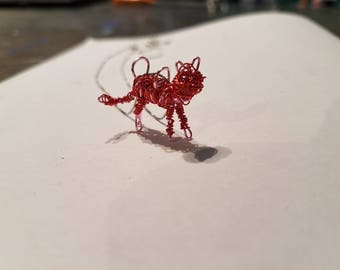 Cat Wire Pendant