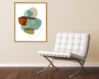 Contemporary Art, Abstract Art Print, Mid Century Art, Extra Large Wall Art, Fine Art