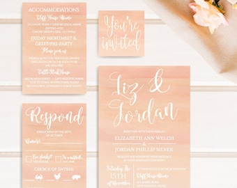 Printable Wedding Invite Template, Wedding Invitation Suites Packages, Formal Wedding Invitation Suite, Wedding Invitations Cheap Packages