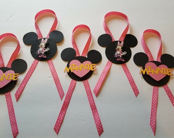 Candy Station Jar Tags Minnie Mouse