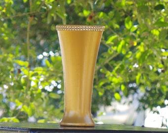 Gold Home Decor, Flower Vase, Pencil Holder, Makeup Brush Holder, (Glass)