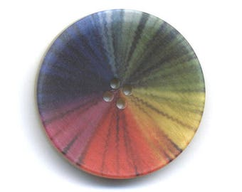 Fancy Rainbow 34 mm button