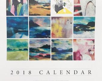 2018 Calendar of art prints for charity