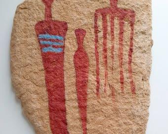 Ancient Reproduction Pictograph Native American Indian Rock Art Fremont Figures