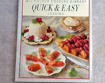 Quick & Easy cooking Vintage cookbook Recipe cook book Cuisine Cookery food meals Kitchen book All colour cookery library Marks and Spencer