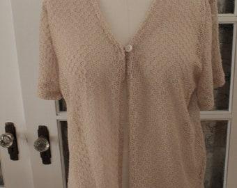 Sheer Lace Knit Cardigan