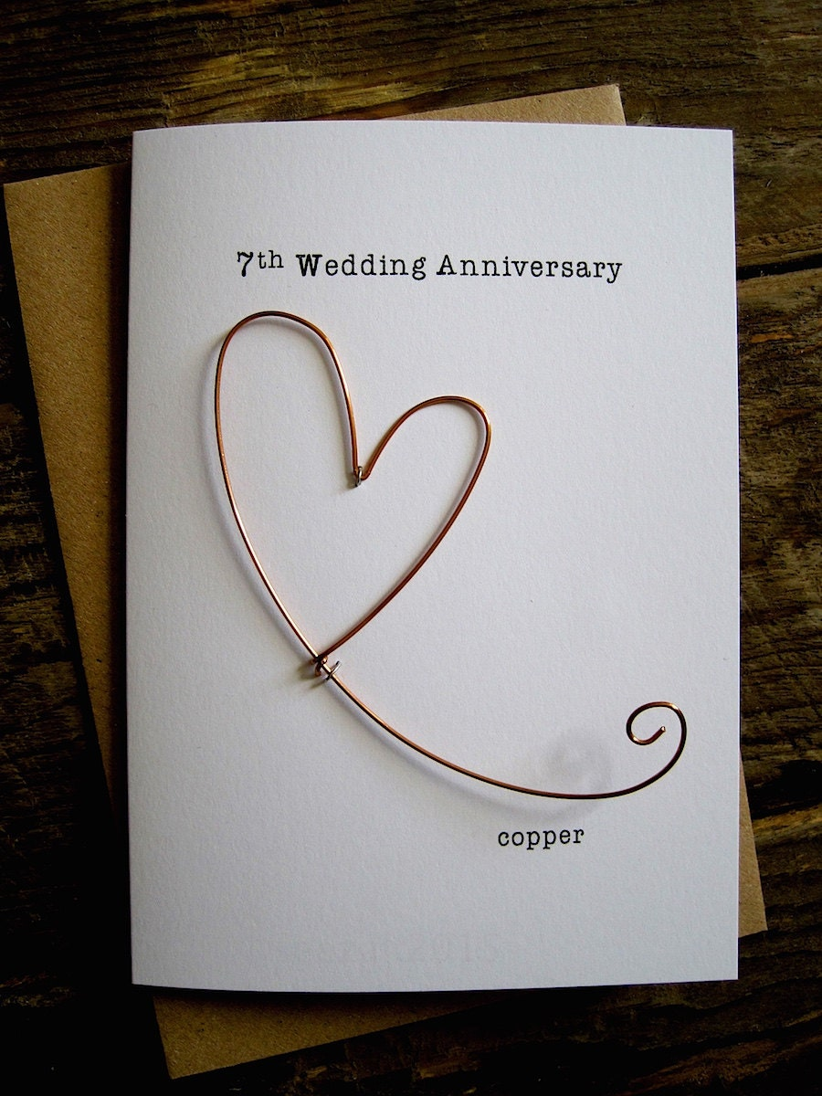 copper gifts for 7th wedding anniversary