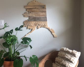 Alaska State Sign | Reclaimed Wood | Pallet Sign | Home Decor | Wall Art | Rustic Decor | Barn wood |