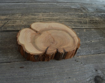 Gorgeous Juniper Tree Slice- Wall Hanging, Candle Stand, Centerpiece, Large Wood Slice, Clock Face (WS6027)