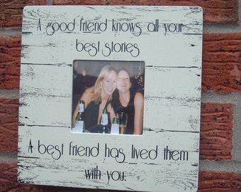 Best Friends picture frame good friend best friend photo frame personalized  8x8 inch