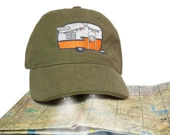 Camper Trailer Flashlight Hat Birthday Gift~ Retro Campers~ Vintage Campers~ Glamper~ Glamping Camping~ Shasta Camper