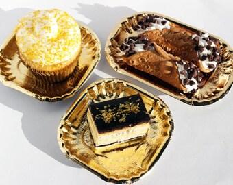 50 Gold Mini Dessert Plates Gold Wedding Mini Dessert Plates Gold Appetizer Plates & Gold Foil Mini Plates Gold Paper Plates Wedding Dessert