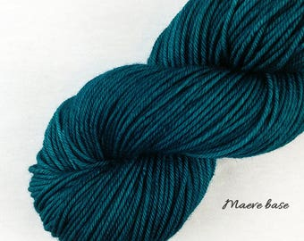 Sun on Sea - dark teal semisolid tonal hand dyed yarn - fingering, sock, sport, DK, worsted - 100 grams - dyed to order