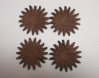 2 x brown paper flower