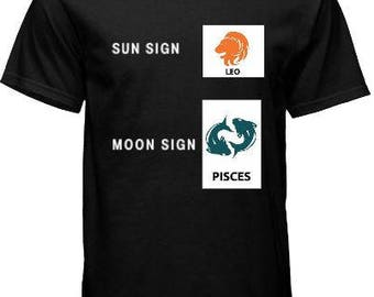 Zodiac Sign Tee - Sun - Moon - Rising