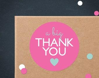 Pink Thank You Printable Stickers | Printable Thank You Stickers | Business Thank You Printable | Packaging Stickers | Poshmark Thank You
