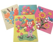 Vintage Greeting Cards - 1970's Birthday Cards, Get Well Cards, 1970's Mod