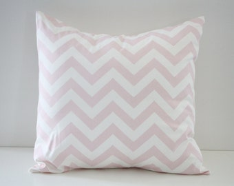 Decorative Pillow Cover, Home Decor, Chevron Decorative Pillows, Pink Chevron Pillow Sham, Pillow Sham, 16x16, Throw Pillow