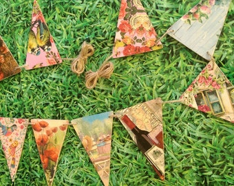 Bunting outdoors
