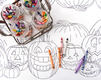Halloween Party Decorations, Table Runner Coloring Page