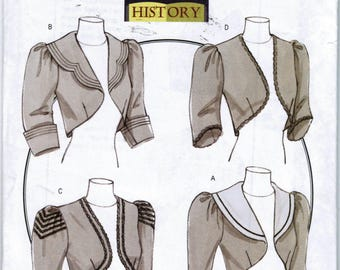 Butterick B5232 Making History Misses Victorian Jacket Size AA 6-12 Factory Folded