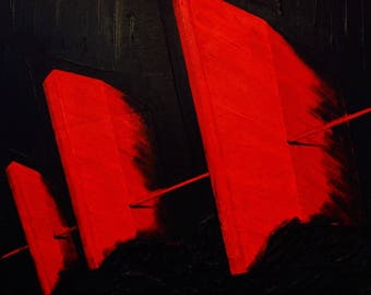 Painting on canvas: solidarity in the storm