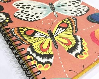 Ruled Journal - Butterflies on Peach