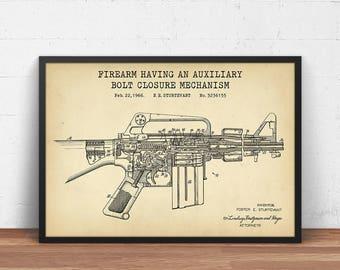 Fire hydrant patent print firefighter printable fireman art m16 rifle 1966 patent print digital download ar 15 sniper wall art man malvernweather Choice Image