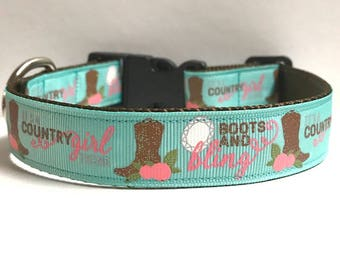 """1"""" country girl thing collar"""