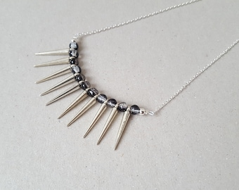 Pik black Crystal Necklace