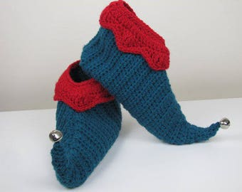 Adult Elf Slippers, Adult Curly Toes Slippers, Pixie Slippers