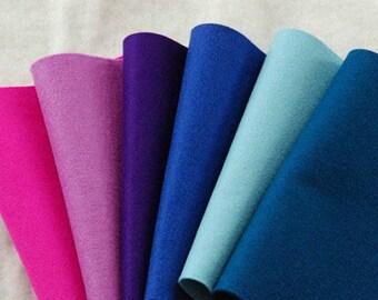 LAVENDER WOOL FELT Collection ~ 100% Wool Felt Oekotex Standard ~ 1-1.2mm felt sheets