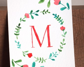 M is for Mom (red)