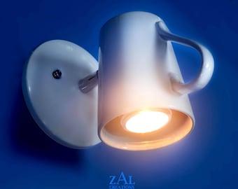 Sconce, Coffee Mug. Wall light, Ceiling Light. Adjustable.
