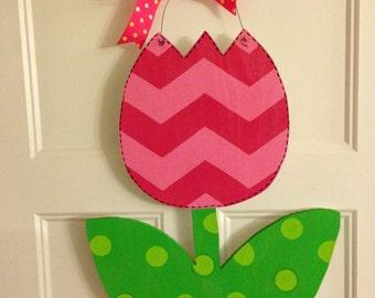 Spring Tulip Door Hanger