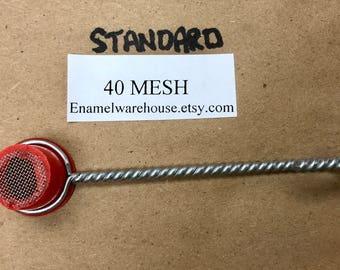 "STANDARD 40 MESH SM-1 Small Sifter  1/2"" dia. X 1/2"" d. Standard 40 Mesh Screen Size"