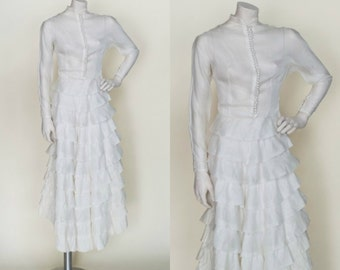1920s Wedding Dress --- Vintage Long Sleeve Wedding Gown