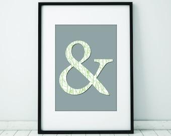Ampersand Print DOWNLOAD, Wall Art, Wall Decor, Ampersand Print, And Symbol, Typography Print, Modern Art Print, Minimalist Decor, & Symbol