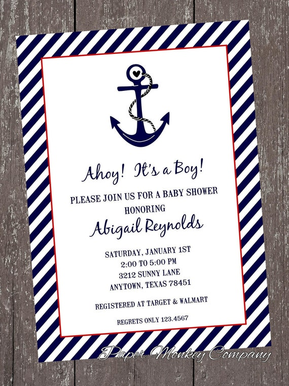 Nautical baby shower invitations 100 each with envelope filmwisefo