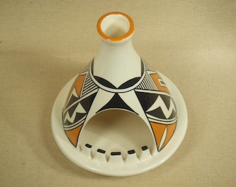 Native American Indian ashtray - Acoma teepee ash tray