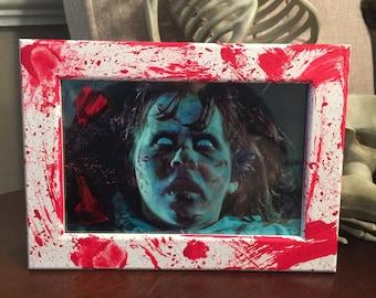 Custom made 4x6 frame and print