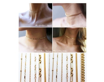 Chain Choker Necklaces / Ultimate Dainty Choker Necklaces / Trendy Chokers in Gold filled and stering silver. Perfect gifts for her