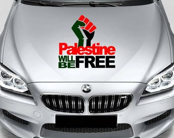 Palestine will be Free - Freedom - Flag Colour - Car Bumper/Bonnet Vinyl Decal Sticker - P001