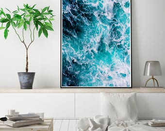 50%OFF,  Sea poster, Sea print, Sea foam photo, Ocean photography, Ocean wall art, Ocean photo prints, Coastal decor