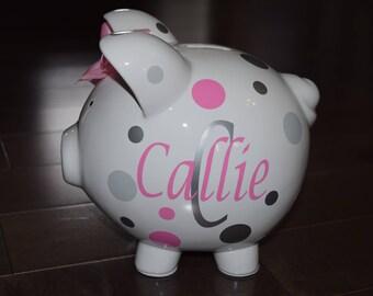 Monogram - Piggy Q's Personalized Piggy Bank