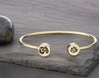 Double Charm Cuff in Brass