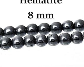 55 round 8 mm non magnetic hematite beads