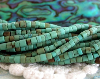 Heishi Beads, Turquoise, Turquoise Beads, Small Hand Cut Turquoise Heishi Beads SP-204