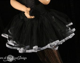 Zebra tutu petticoat skirt adult trim black Halloween costume carnival durby run - You Choose Size - Sisters of the Moon