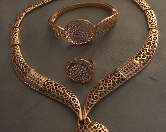 Butterfly necklaceTriple Gold Layered Necklace Butterfly